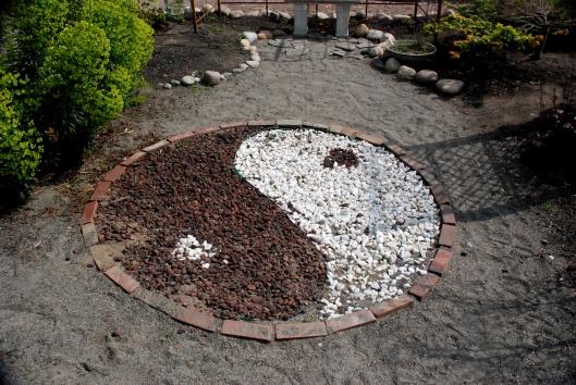 Ying Yang Garden Stone